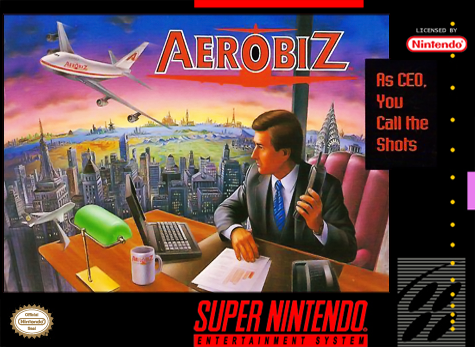Aerobiz Nintendo Super NES cover artwork