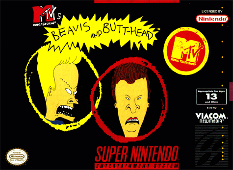Beavis and Butt-Head Nintendo Super NES cover artwork