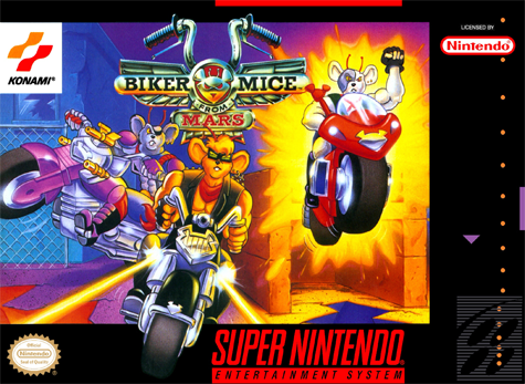 Biker Mice from Mars Nintendo Super NES cover artwork