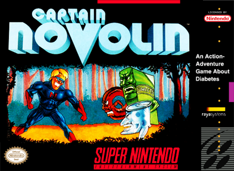 Captain Novolin Nintendo Super NES cover artwork