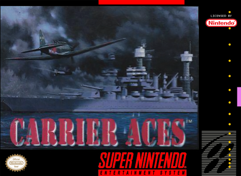 Carrier Aces Nintendo Super NES cover artwork