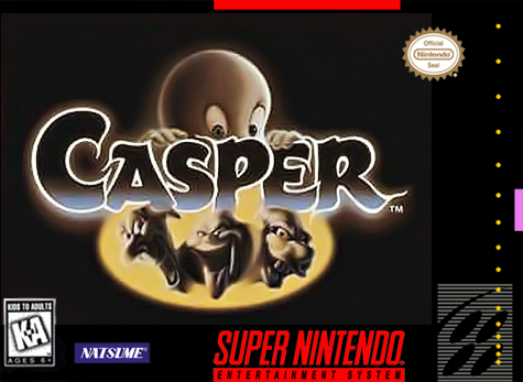 Casper Nintendo Super NES cover artwork
