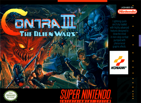 Contra III - The Alien Wars Nintendo Super NES cover artwork