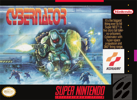 Cybernator Nintendo Super NES cover artwork