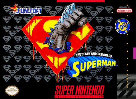 Death and Return of Superman, The Nintendo Super NES cover artwork