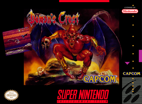 Demon's Crest Nintendo Super NES cover artwork