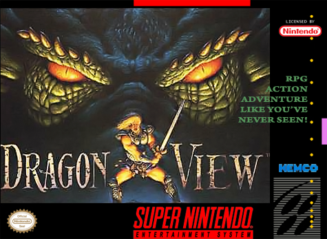 Dragon View Nintendo Super NES cover artwork