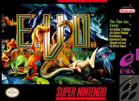 E.V.O. - Search for Eden Nintendo Super NES cover artwork