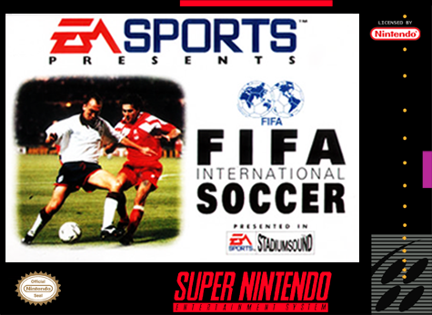 FIFA International Soccer Nintendo Super NES cover artwork
