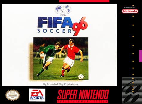 FIFA Soccer '96 Nintendo Super NES cover artwork