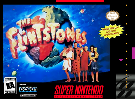 Flintstones, The Nintendo Super NES cover artwork