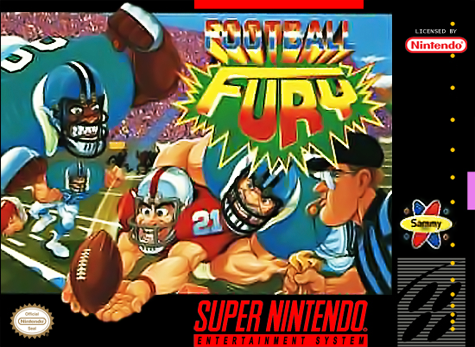 Football Fury Nintendo Super NES cover artwork