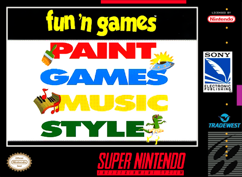 Fun 'n Games Nintendo Super NES cover artwork