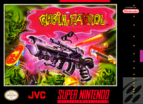 Ghoul Patrol Nintendo Super NES cover artwork