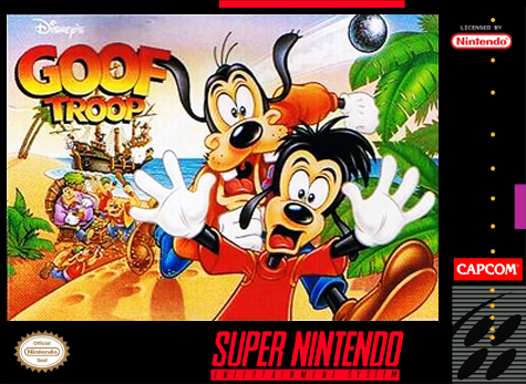 Goof Troop Nintendo Super NES cover artwork
