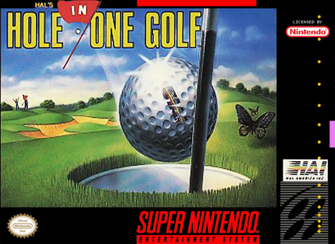 HAL's Hole in One Golf Nintendo Super NES cover artwork