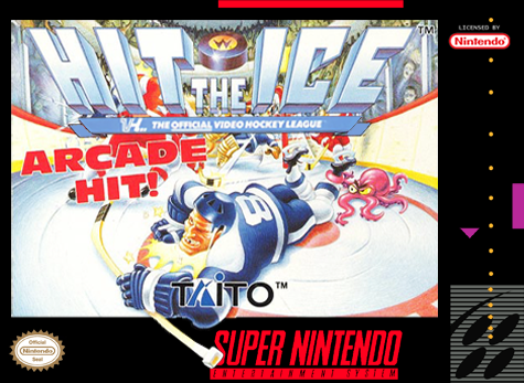 Hit the Ice Nintendo Super NES cover artwork