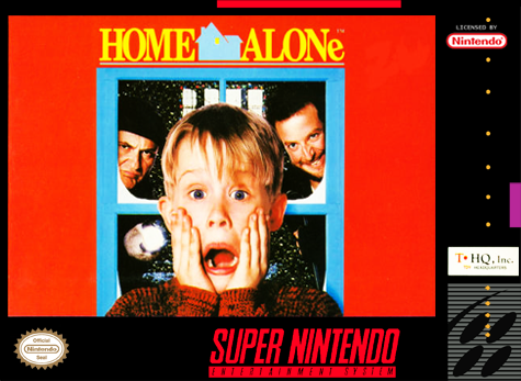 Home Alone Nintendo Super NES cover artwork