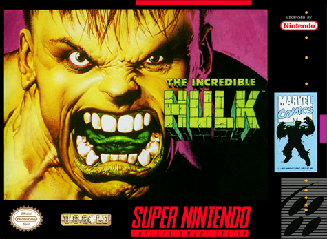 Incredible Hulk, The Nintendo Super NES cover artwork