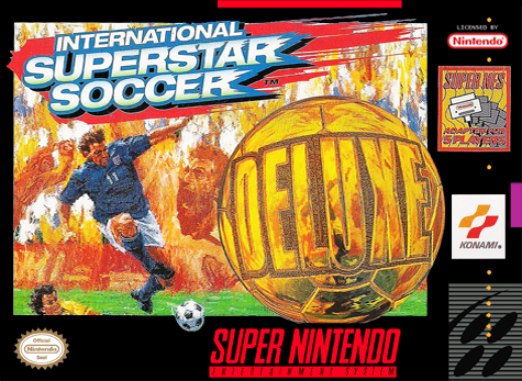 International Superstar Soccer Deluxe Nintendo Super NES cover artwork
