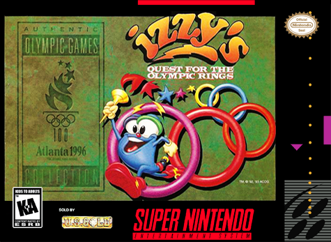 Izzy's Quest for the Olympic Rings Nintendo Super NES cover artwork