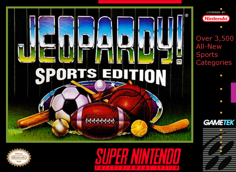 Jeopardy! - Sports Edition Nintendo Super NES cover artwork