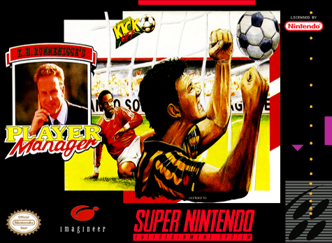 Kevin Keegan's Player Manager Nintendo Super NES cover artwork