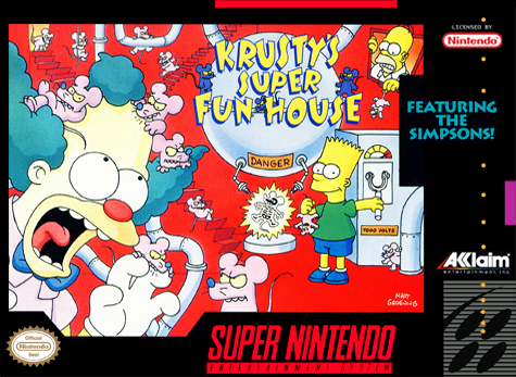 Krusty's Super Fun House Nintendo Super NES cover artwork