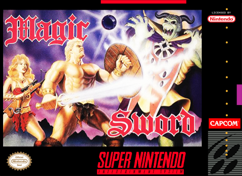 Magic Sword Nintendo Super NES cover artwork