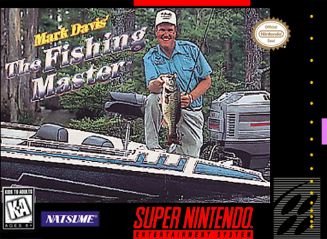Mark Davis' The Fishing Master Nintendo Super NES cover artwork