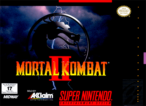 Mortal Kombat II Nintendo Super NES cover artwork