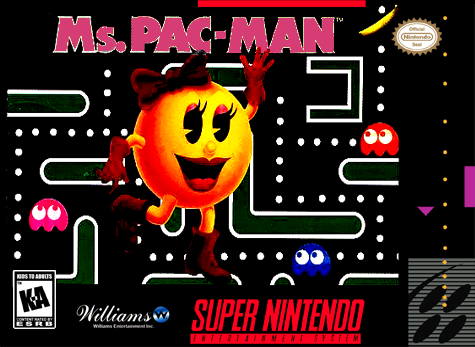 Ms. Pac-Man Nintendo Super NES cover artwork