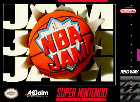 NBA Jam Nintendo Super NES cover artwork
