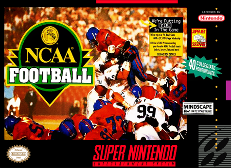 NCAA Football Nintendo Super NES cover artwork