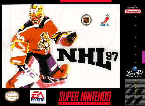 NHL '97 Nintendo Super NES cover artwork