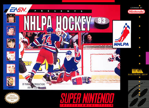 NHLPA Hockey '93 Nintendo Super NES cover artwork