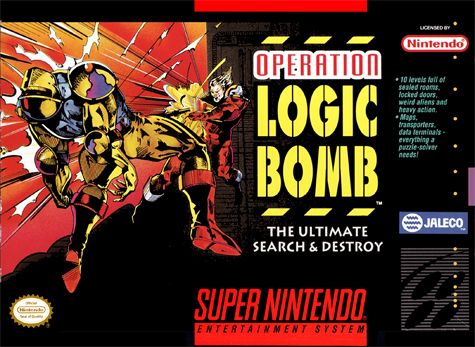 Operation Logic Bomb - The Ultimate Search & Destroy Nintendo Super NES cover artwork