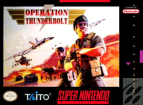 Operation Thunderbolt Nintendo Super NES cover artwork