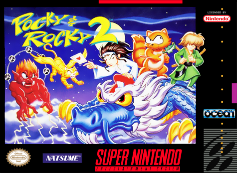 Pocky & Rocky 2 Nintendo Super NES cover artwork