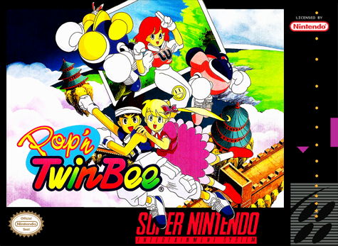 Pop'n TwinBee Nintendo Super NES cover artwork