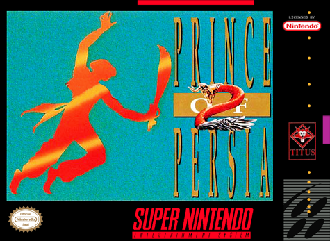 Prince of Persia 2 - The Shadow & the Flame Nintendo Super NES cover artwork