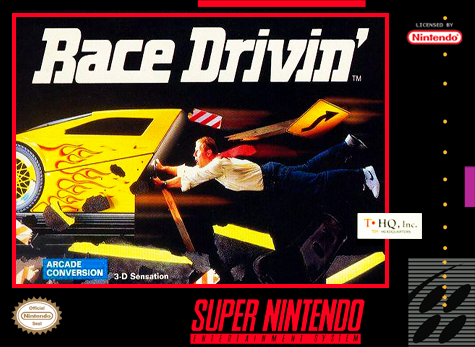 Race Drivin' Nintendo Super NES cover artwork