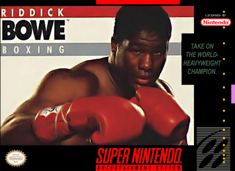 Riddick Bowe Boxing Nintendo Super NES cover artwork