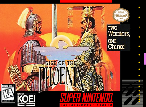 Rise of the Phoenix Nintendo Super NES cover artwork