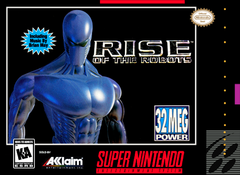 Rise of the Robots Nintendo Super NES cover artwork