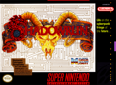 Shadowrun Nintendo Super NES cover artwork