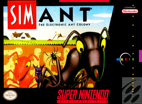 SimAnt - The Electronic Ant Company Nintendo Super NES cover artwork
