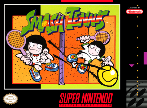 Smash Tennis Nintendo Super NES cover artwork