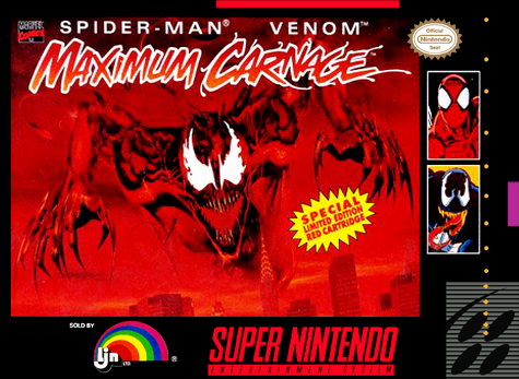 Spider-Man & Venom - Maximum Carnage Nintendo Super NES cover artwork