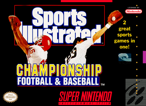 Sports Illustrated Championship Football & Baseball Nintendo Super NES cover artwork